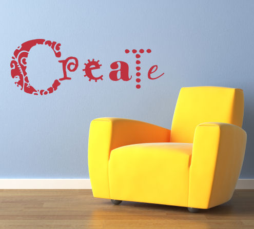 Simply Words Create Wall Decals