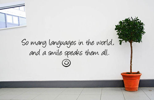 Languages World Smile Speaks Them All Wall Decal
