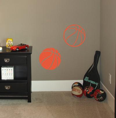 Basketballs Wall Decal