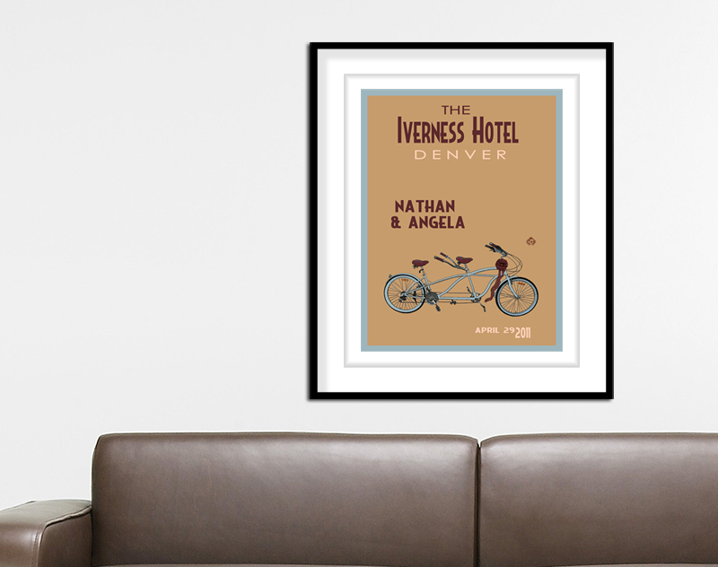 Tandem Bike Wedding Print