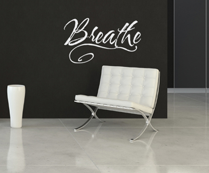 Large Breathe Wall Decal