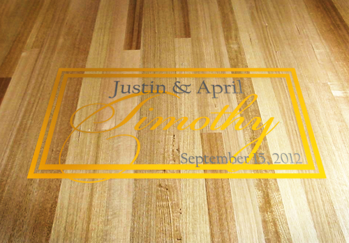 Dance Floor Rectangle Name Decal