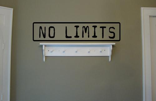 No Limits Wall Decal