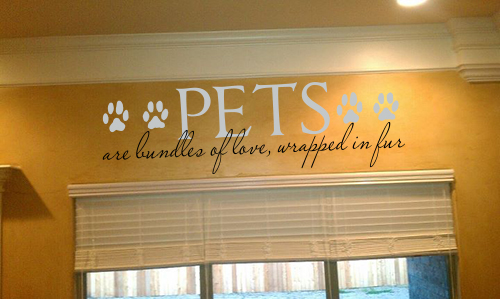 Pets Are Bundles Of Fur Wall Decal