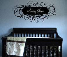 Fancy Name Personalized Wall Decals