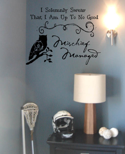 Mischief Managed Wall Decal