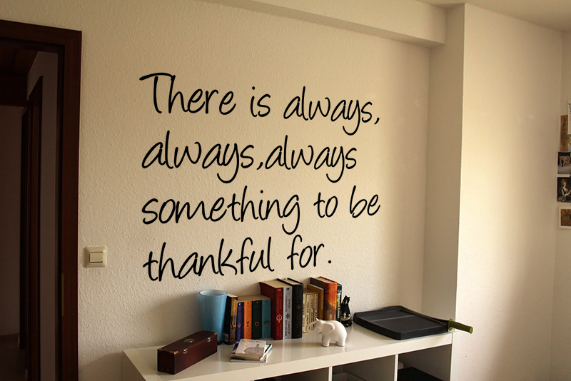 Thankful Wall Decal