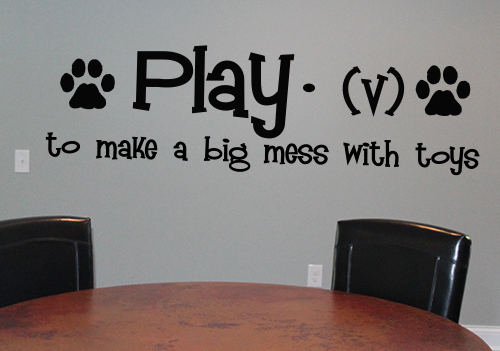 Paw Print Play Definition Wall Decal