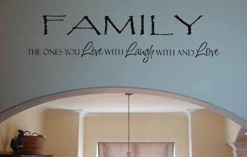 Family Live Laugh Love Wall Decal