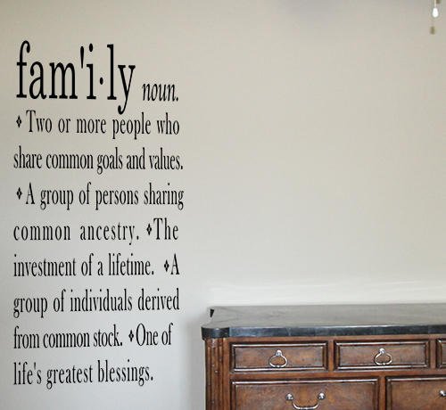 Family Definition Tall Wall Decals