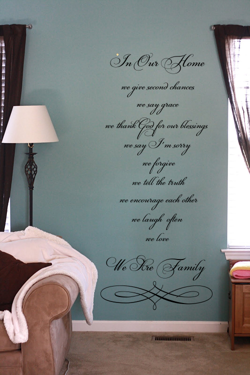 Script In Our Home Wall Decal Item
