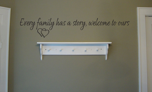 Welcome To Our Family Story Wall Decal