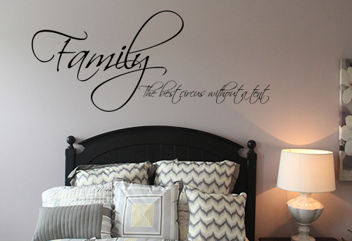 Best Circus Family Wall Decal