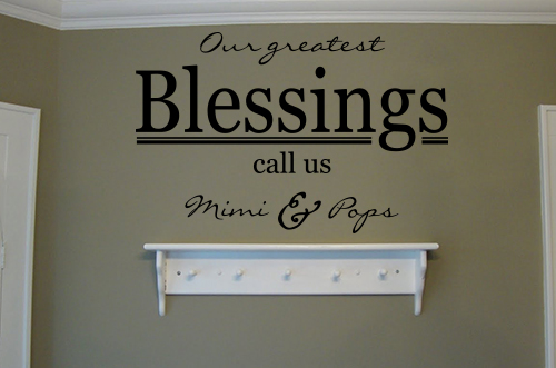 Our Greatest Blessings Mimi Pops Wall Decals