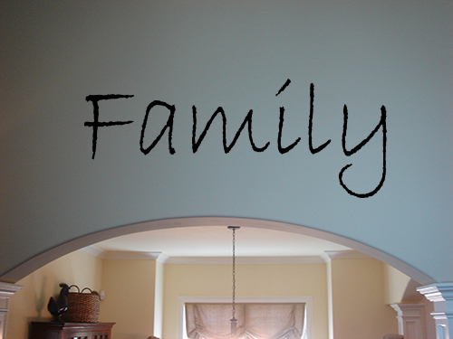 Simply Family Word Wall Decals