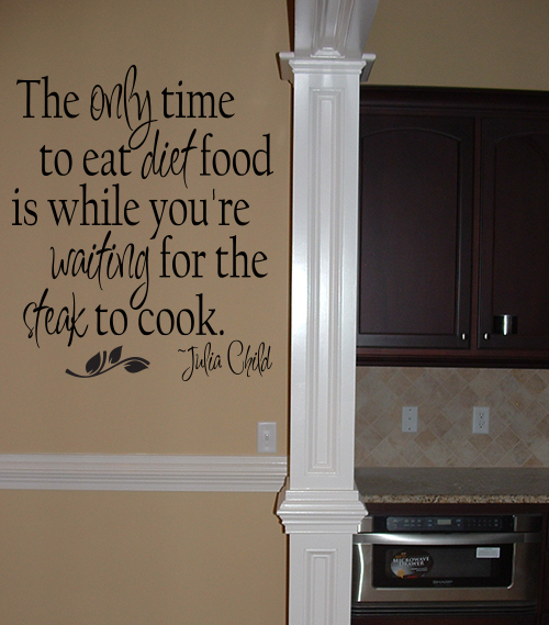 Diet Food  Julia Child Wall Decal