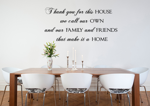 Thank You For This House Wall Decals