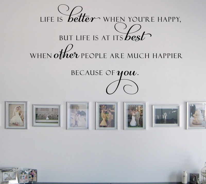 Life At It's Best Wall Decal Item