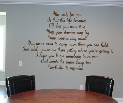 My Wish For You Wall Decal