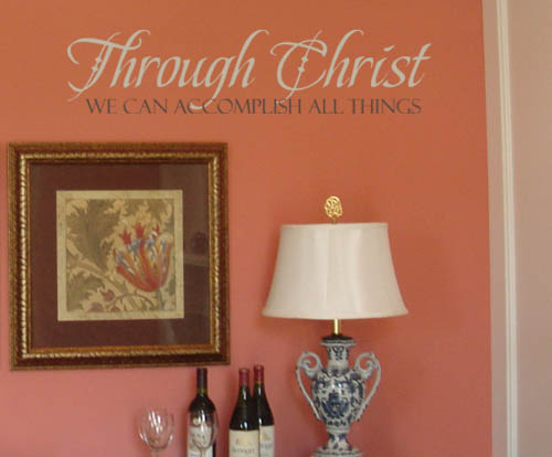 Through Christ Wall Decals