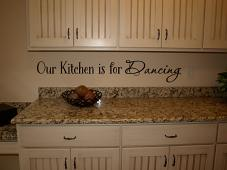 Kitchen is for Dancing Wall Decal