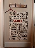 A Smile In Many Languages Wall Decal