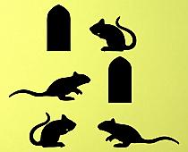 Mice and Holes Wall Decal