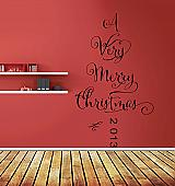 A Very Merry Christmas Tree Wall Decal