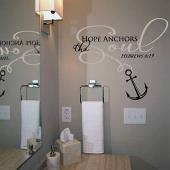 Hope Anchors The Soul Wall Decal