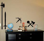 Medieval Weapons Wall Decal