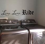 Live Love Ride Wall Decal