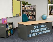 Good Books Equal Wall Decal