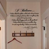 Hepburn I Believe Wall Decal