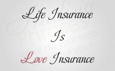 Life Insurance Is Love Insurance Wall Decal