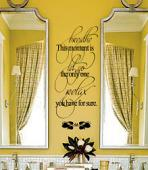 Relaxing Bathroom Wall Decal