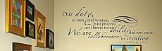 Our Duty Wall Decal