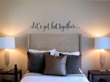 Lets Get Lost Together Wall Decal