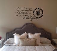 Two Roads Diverge Wall Decals