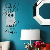 God Is Good Owl The Time Wall Decal