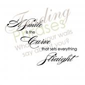 Smile Straight Wall Decal