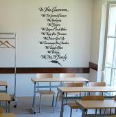 In This Classroom Wall Decal