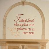 Faithful Friends Wall Decal