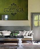 Season's Greetings Wall Decal