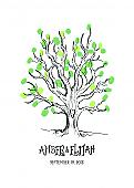 Sketch Tree Wedding Thumbprint Guest Book