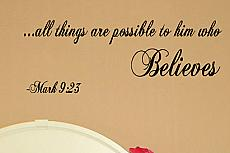 All Things Are Possible Wall Decals