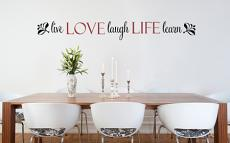 Love Life Live Laugh Learn Wall Decal