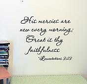His Mercies Lamentations Wall Decals