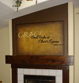 God's Riches Wall Decal