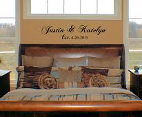 Couples Names Personalized Wall Decal