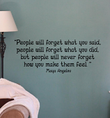 People Will Never Forget Feel Wall Decals